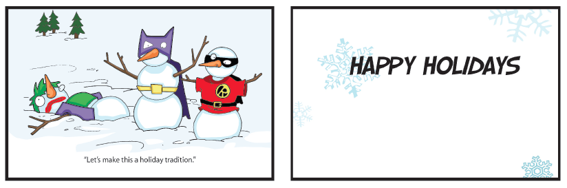 greeting card joker in the snow holiday  cards