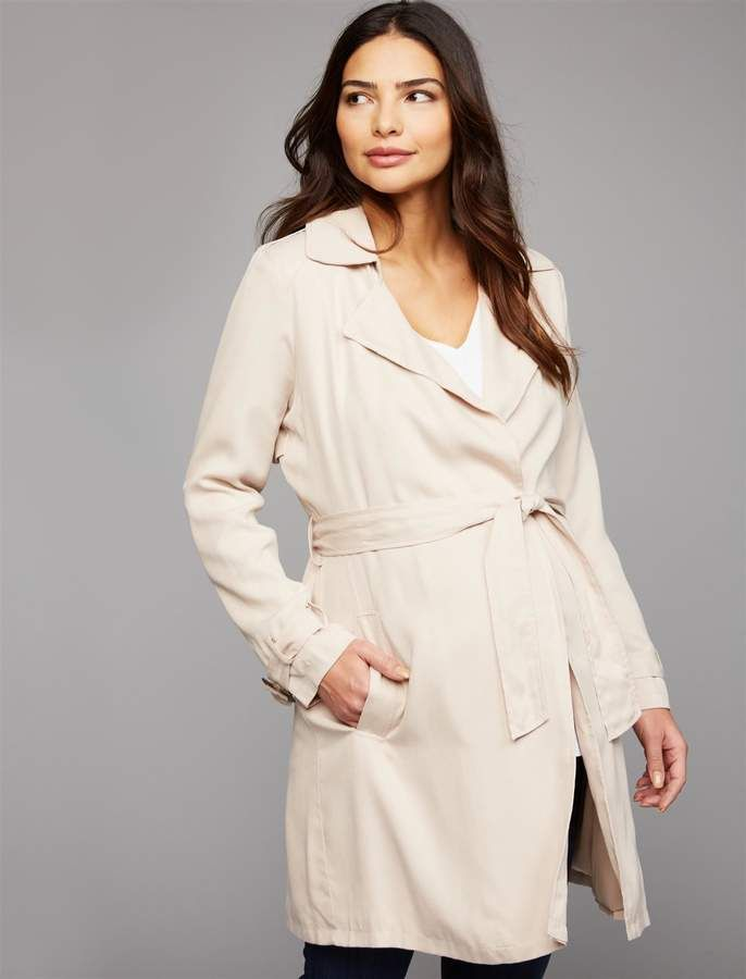 b6796965308e0 A Pea in the Pod Bb Dakota Open Front Cotton Woven Maternity Jacket ...