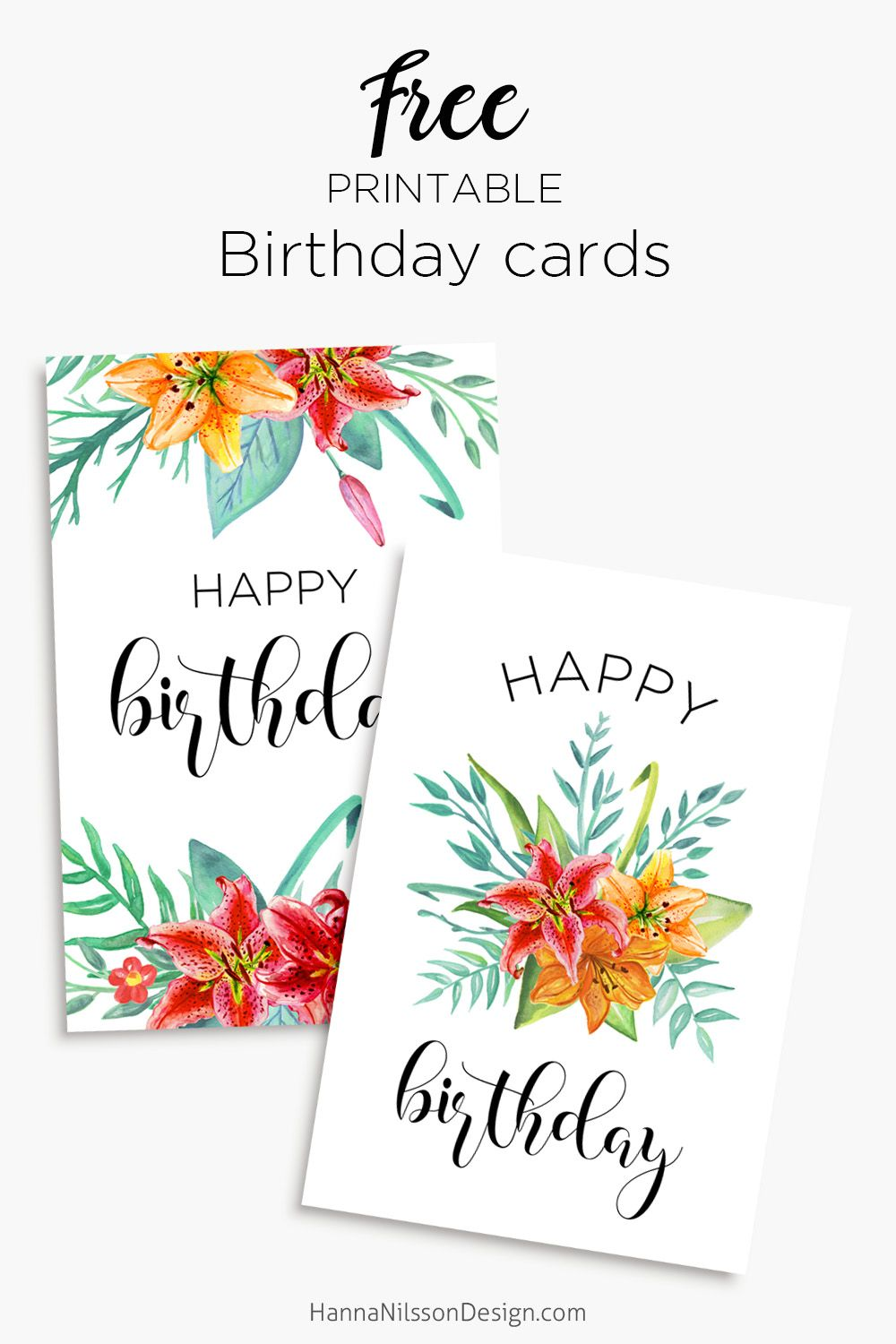 Printable Floral Birthday Cards Tags Gift Box Birthday Card Printable Free Printable Birthday Cards Birthday Cards For Mom