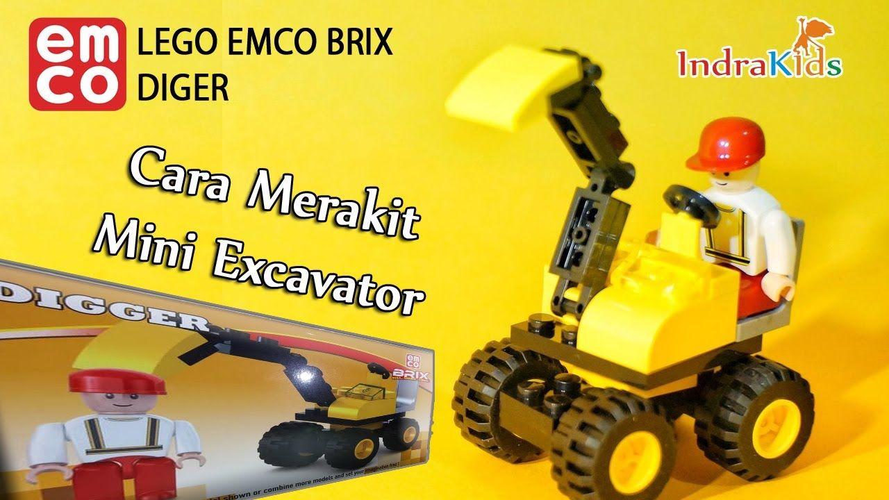 Cara Merakit Lego Excavator Mini Build Mini Excavator Lego Emco Brix Mini Excavator Lego Excavator