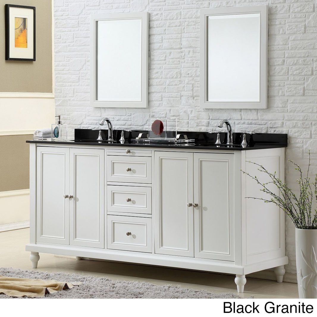 Direct Vanity Sink 70 Inch Classic Pearl White Double Vanity Sink