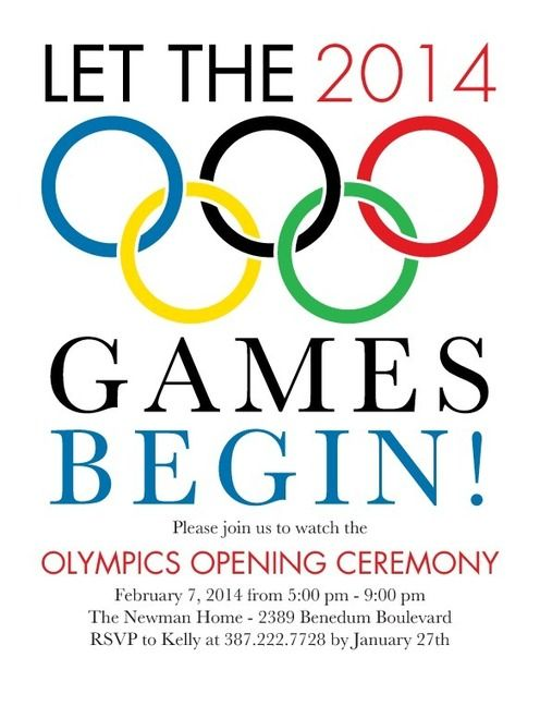 Olympic Party Invitations Theme Parties Pinterest Olympics