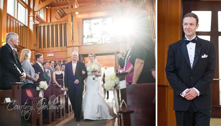 Melanie zach 39 s wedding ceremony in the day chapel at the - Athens botanical gardens wedding ...