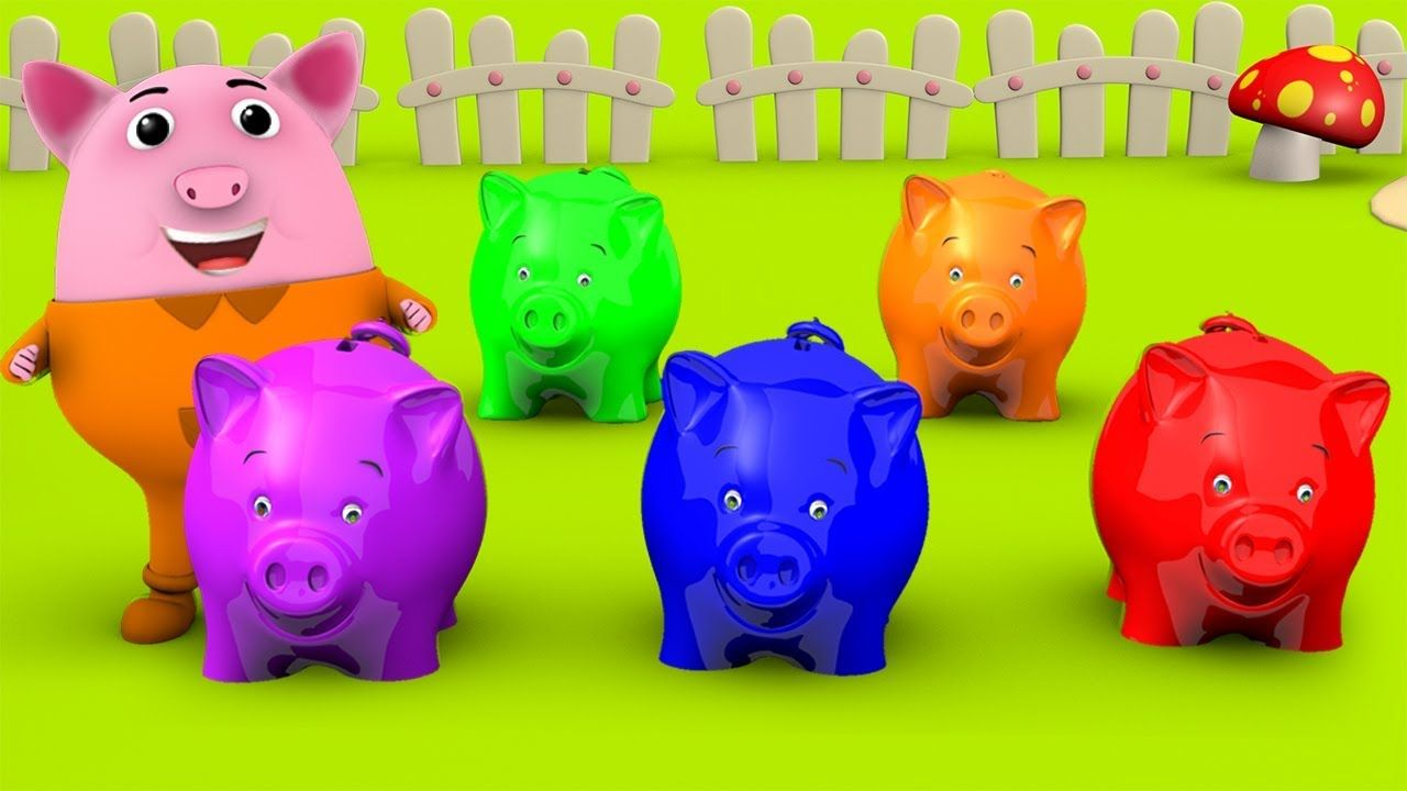 Colors Songs - Learn Colors for Children with Little Baby Pig ...