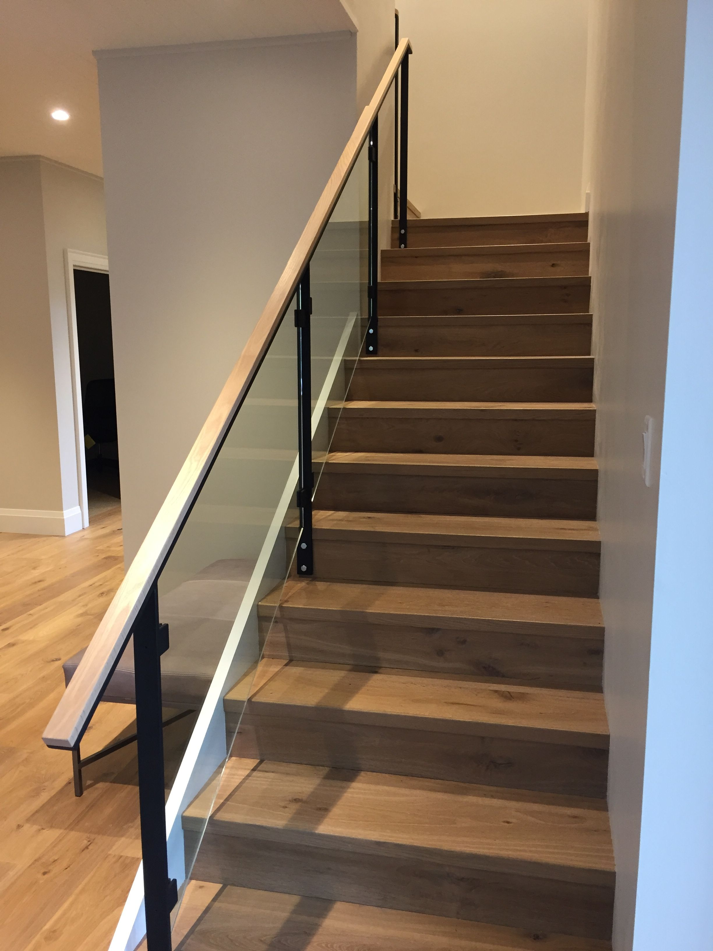 Best Stair Caps Made On Site From Lumber With Custom Stained 400 x 300