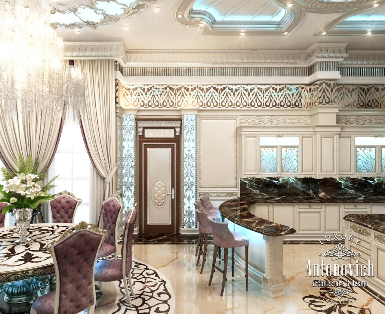 Kitchen design in dubai luxury kitchen abu dhabi photo 4 for Kitchen design dubai