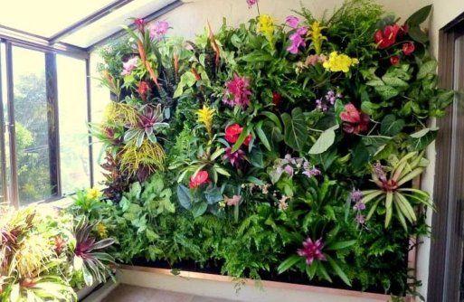 9 ideas para crear un bonito jardín vertical de interior Jardín - jardineras verticales