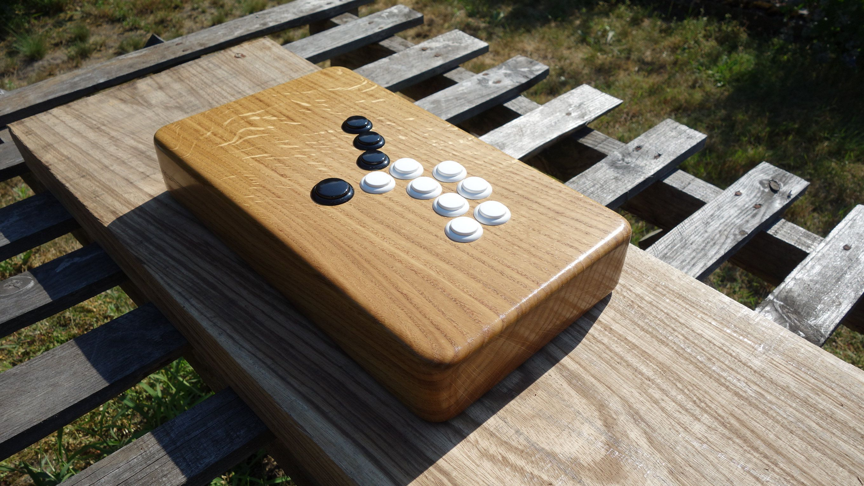 Custom Arcade Fight Stick Hitbox Game Controller Solid Oak Wood Arcade Game Controller Stick