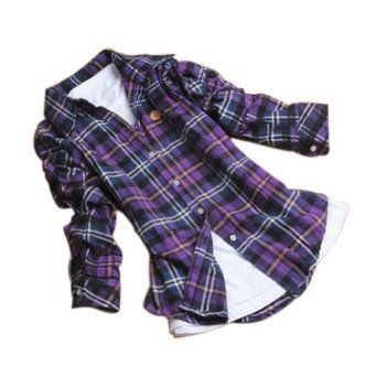 purple flannel shirt | shoes jewelry women clothing tops tees ...