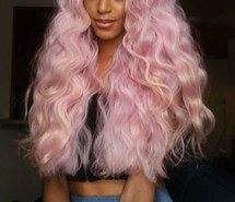 Curly Hair Dyed Tips Long Hair Natural Hair Pink Hair Lace Front Wigs Synthetic Lace Front Wigs Front Hair Styles