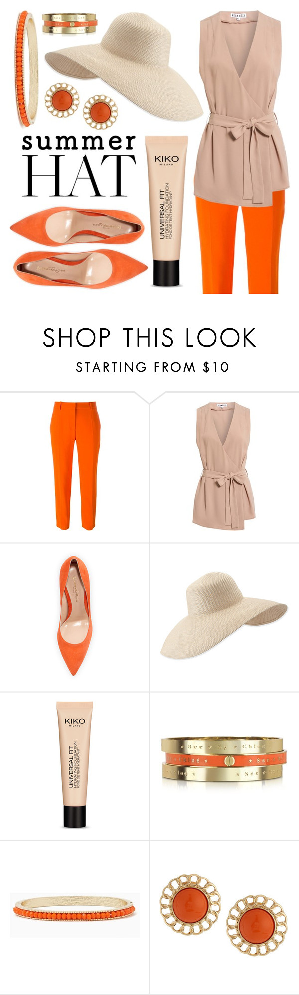 """""""Summer Hat"""" by minchu ❤ liked on Polyvore featuring STELLA McCARTNEY, Gianvito Rossi, Eric Javits, See by Chloé, Kenneth Jay Lane and summerhat"""