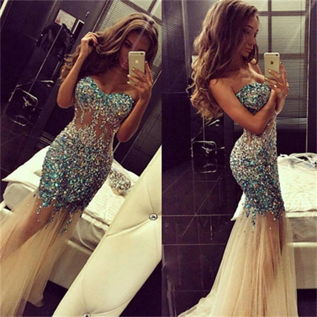 See through prom dresses mermaid prom dresses long prom dresses