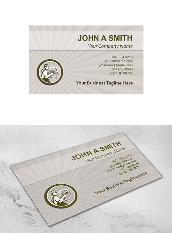 Business Card Template Pizza Maker R Business Card Template Business Card Template Design Business Cards Creative Templates