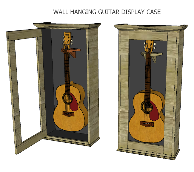 How To Make An Acoustic Guitar Display Case Guitar Display Guitar Display Case Display Case