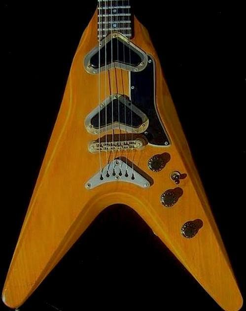 Rare Gibson V2 -- with its boomerang pickups and sleek curves --is ...