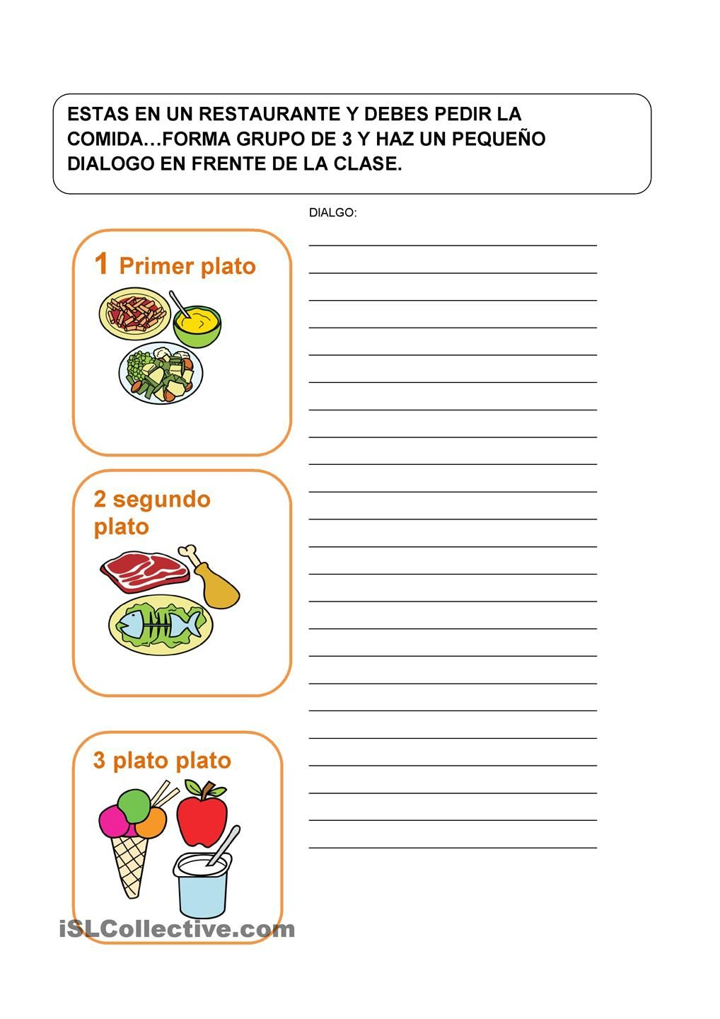 LA COMIDA | Spanish teacher | Spanish teacher, Plastic cutting board ...