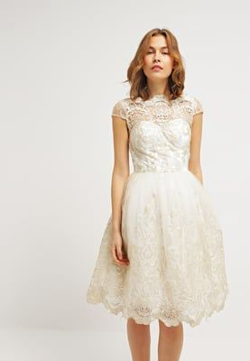Chi Chi London Cocktailkleid Festliches Kleid White Gold Zalando At Quirky Wedding Dress Bridal Gowns Dresses