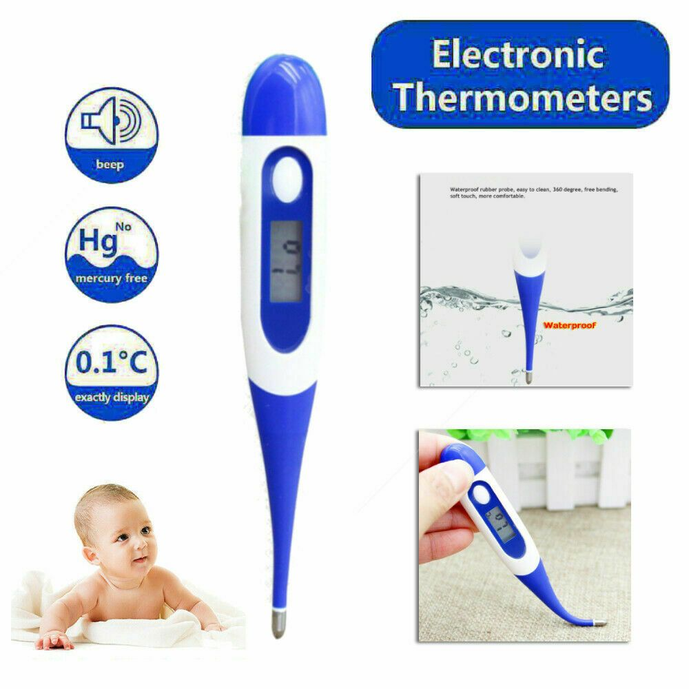 Digital LCD Thermometer Medical Baby Adult Body Kids Oral Temperature Fahrenheit