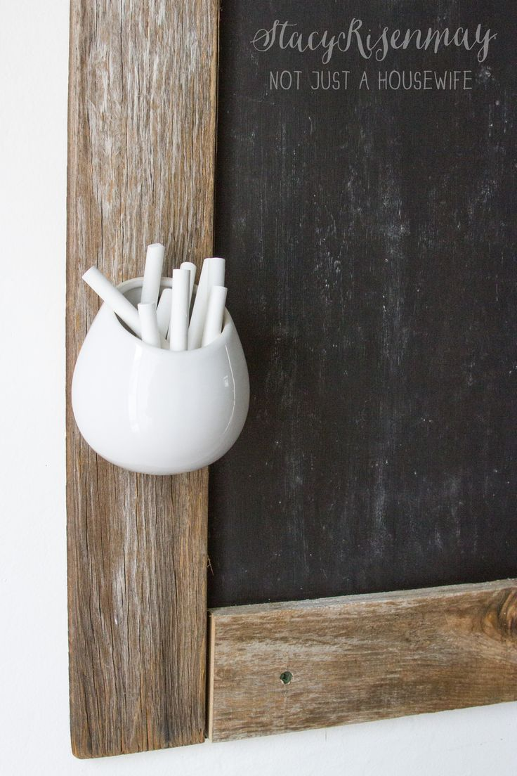 Decor Hacks Chalk Holder For Chalkboard Using A Planter Read More