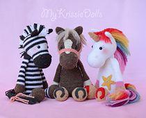 Gratis Patroon Zebra Paard Eenhoorn Haken Annemieke Pinterest