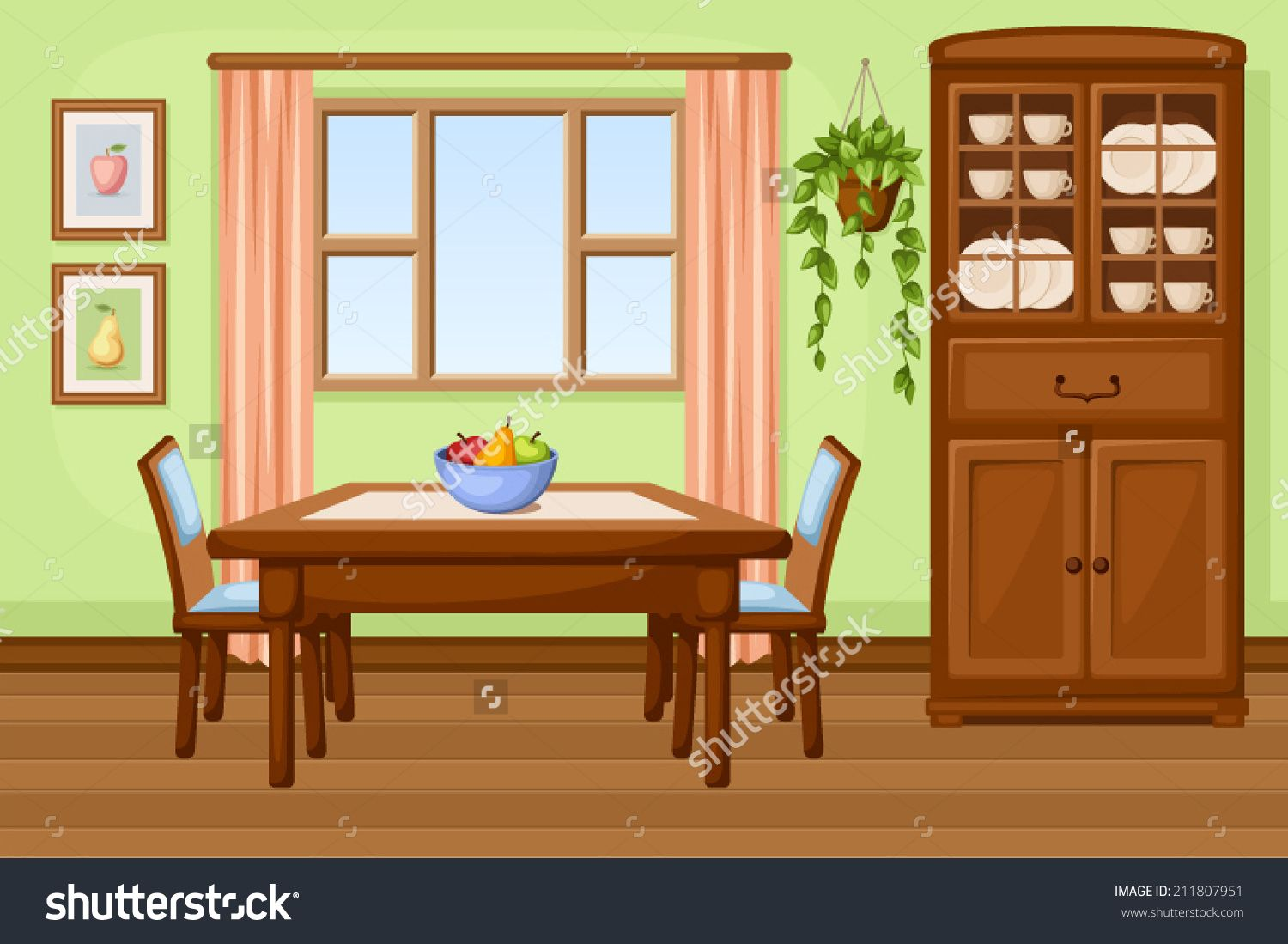 Image Result For Cartoon Dining Room