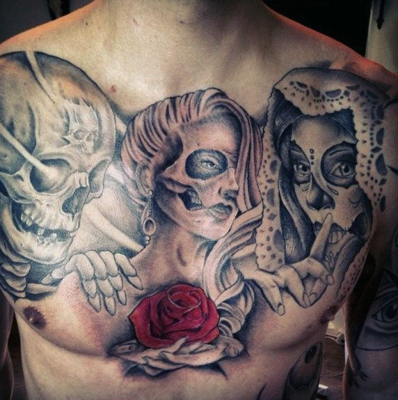 Top 67 Day Of The Dead Tattoo Ideas [2020 Inspiration Guide