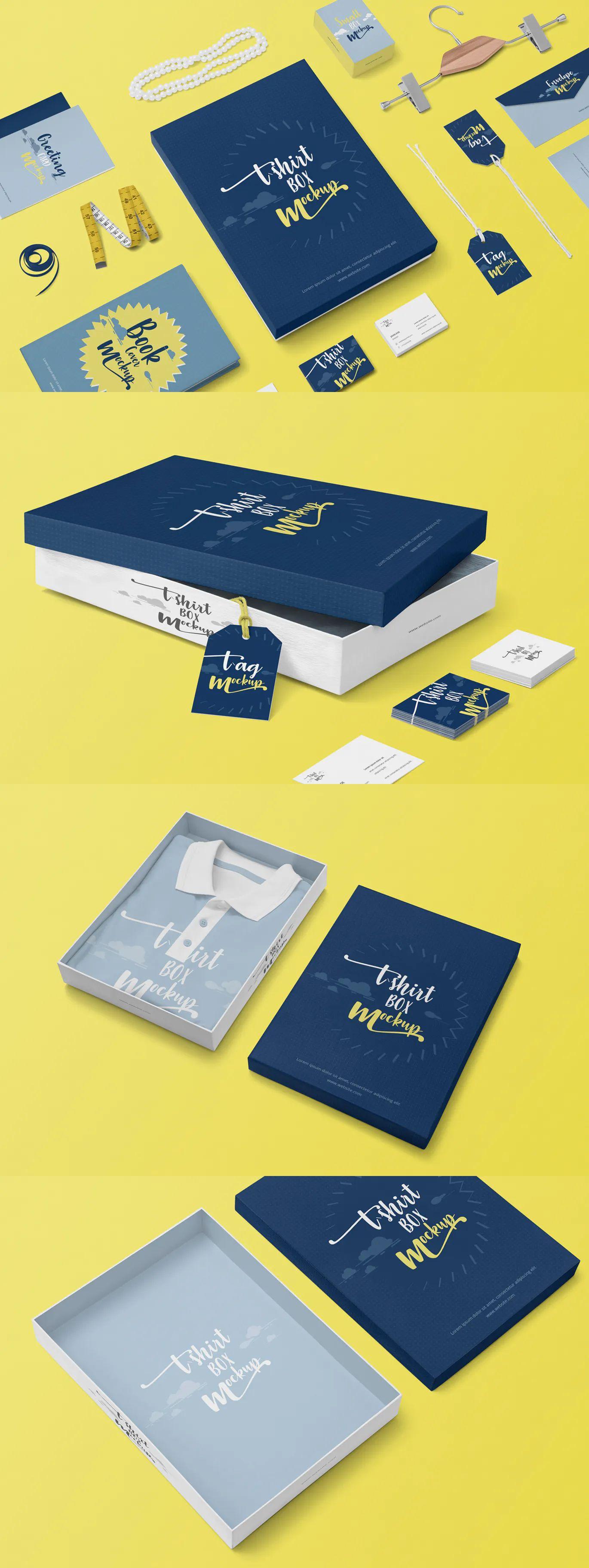 Download Tee Shirt Box Mockups By Zippypixels On Envato Elements Box Mockup Mockup Billboard Mockup
