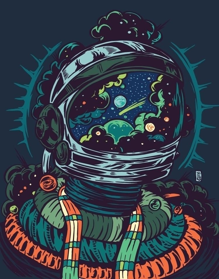 Thomcat23 Thomcat23 Ello Astronaut Art Space Artwork Psychedelic Art