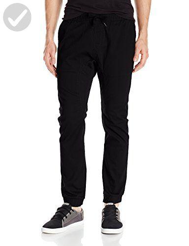 Black 3XB Southpole Mens Big and Tall Basic Stretch Twill Jogger Pants