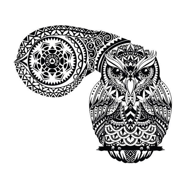 Custom Maori Tattoo Designs: Polynesian Owl Tattoo Design. You Dream It, We Draw It
