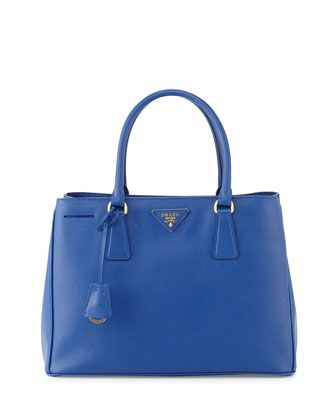 12c1a83314bc Saffiano Small Gardener\'s Tote Bag, Blue (Royal) by Prada at Neiman ...