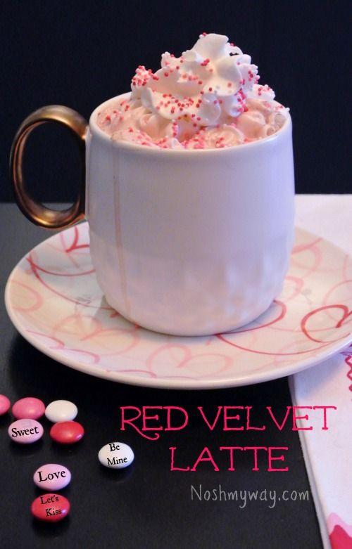 Red Velvet Latte Recipe Red Velvet Recipes Mug Recipes Yummy Drinks