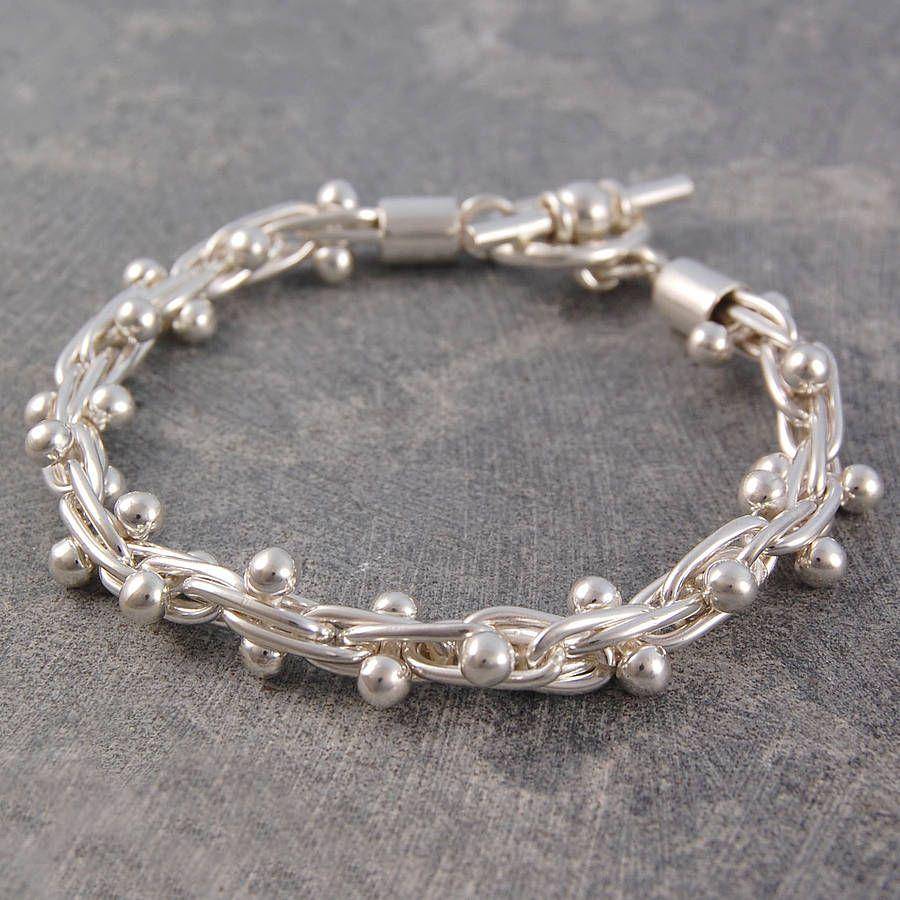 Peppercorn Solid Silver Bracelet By Otis Jaxon Jewellery Notonthehighstreet
