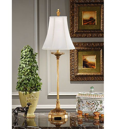 Wildwood 8895 Wildwood 34 Inch 100 Watt Antique Gold Table