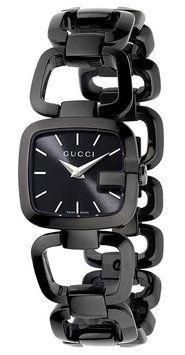 Gucci YA125504 Women's G-Gucci Petite Black PVD Steel Dress Watch 20% off retail