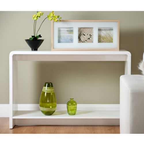 Great Toscana Console Table Rectangular In White High Gloss