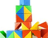 Tupperware Busy Blocks - they had toys that go inside that matched the letter on the block