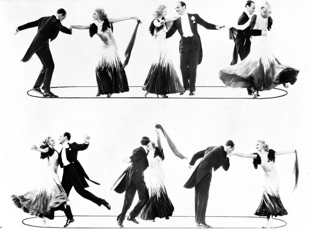 Fred Astaire and Ginger Rogers, 1934  | Silhouette in 2019