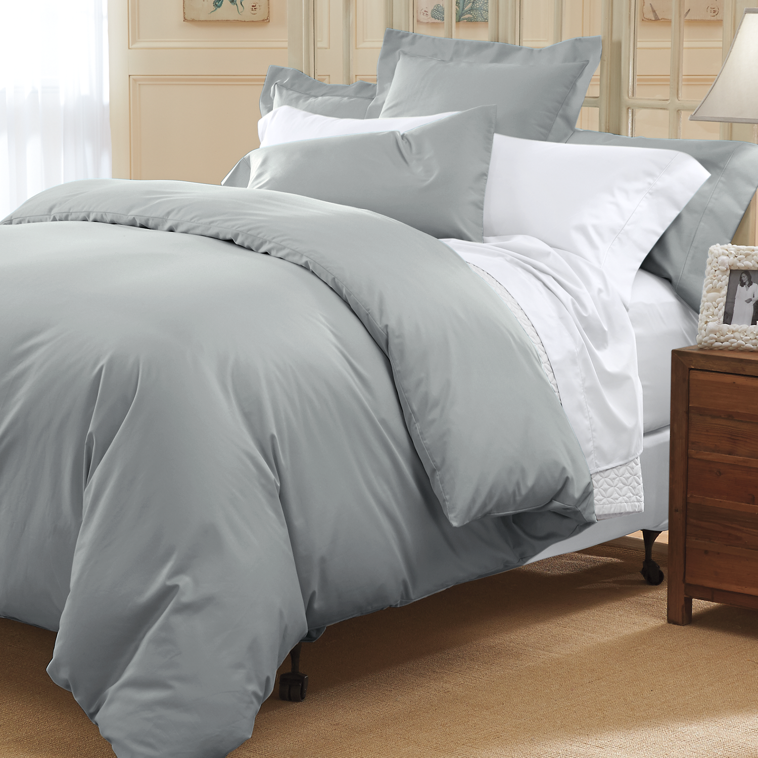 Pewter thread count sheets di bed u bath pinterest sateen