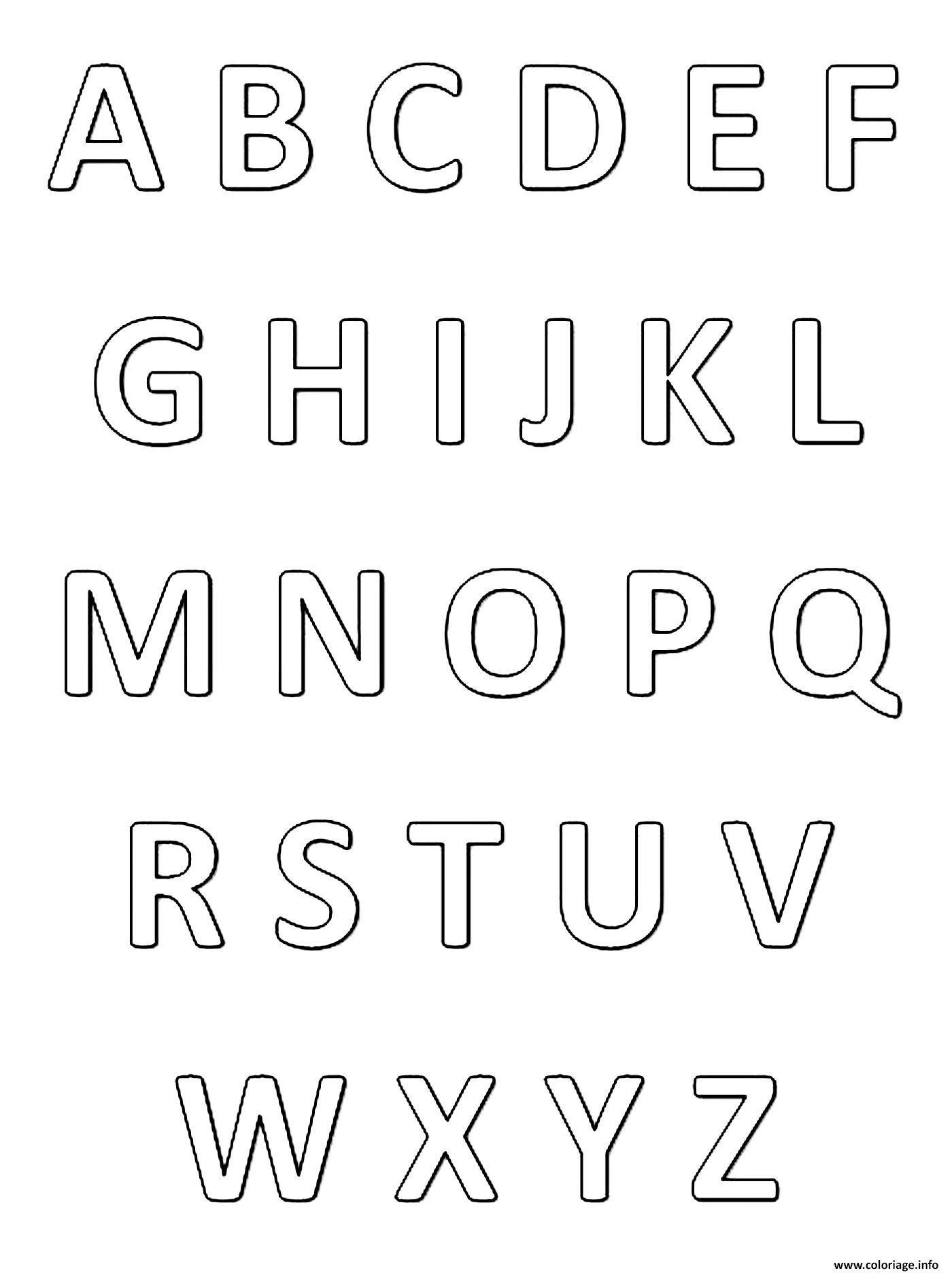 Coloriage abecedaire alphabet et lettres francais à imprimer ...