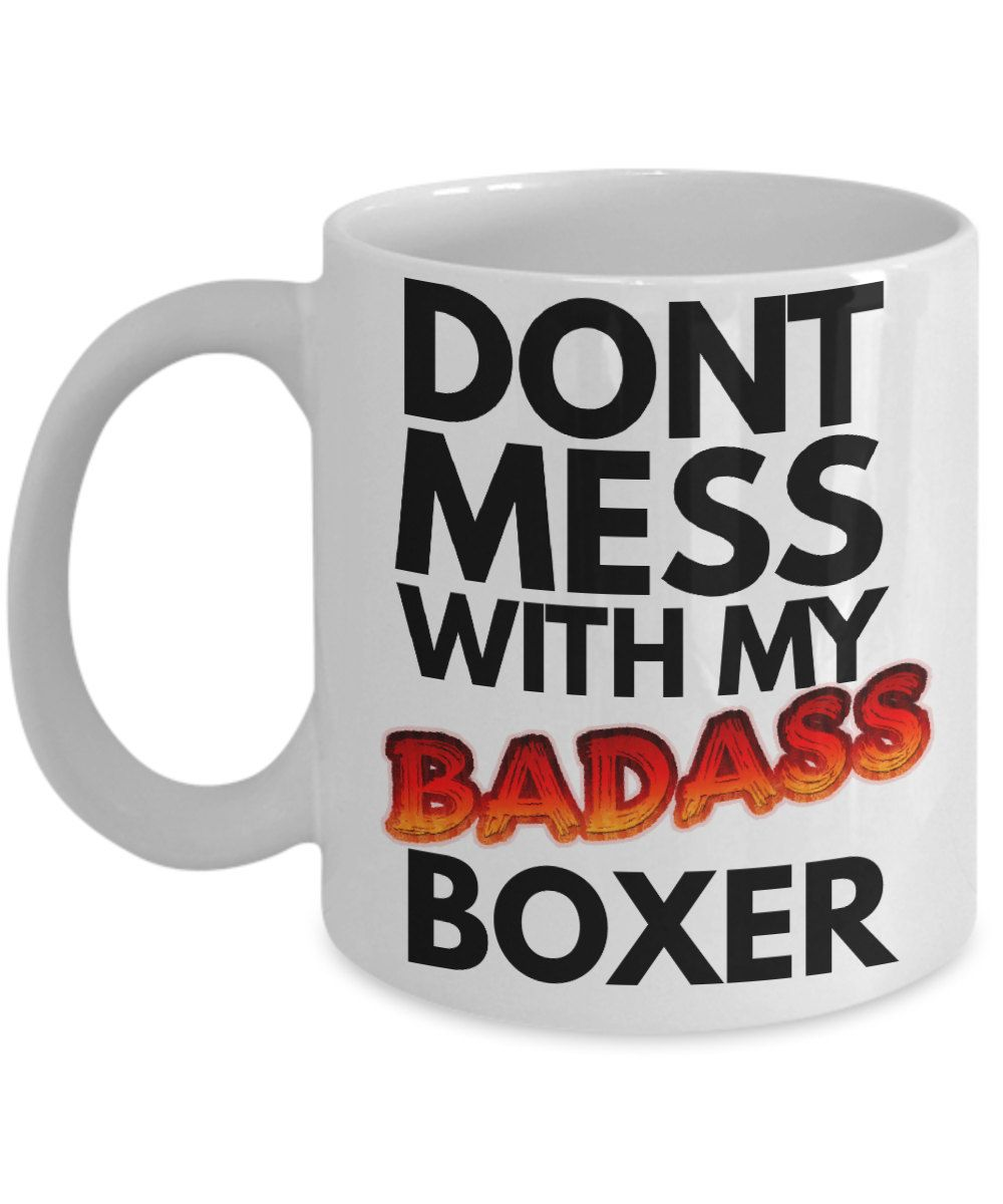 Boxer Dog Mug Funny Bad Coffee Great Gift Idea For A Mom By Amendablemugs On Etsy