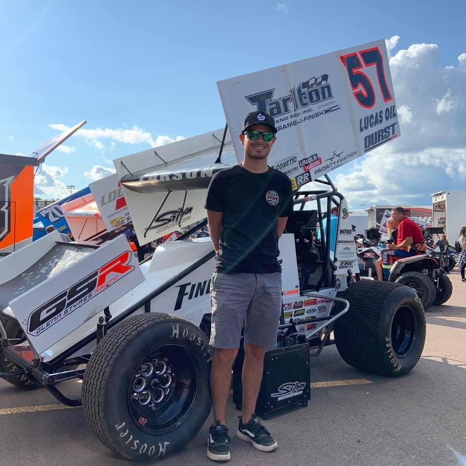 Kyle Larson Wild flip at Huset's Speedway (Video