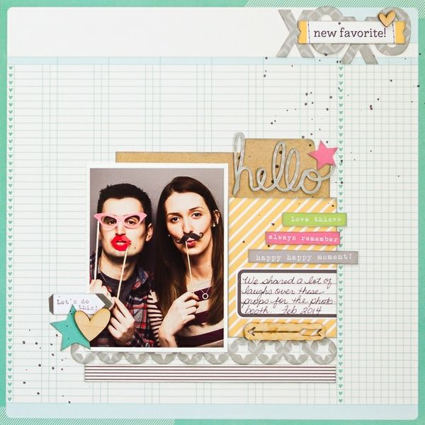 #papercraft #scrapbook #layout  Hello Photo Booth - Two Peas in a Bucket