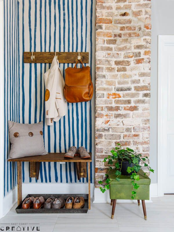 An Easy Mudroom Bench For Any Space And Matching Coat Rack! Get The Full  Details On This Project At Lowes.com/theweekender.
