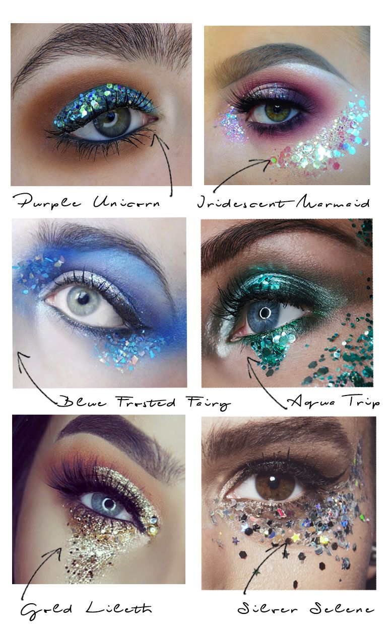 How to apply glitter eyeshadow