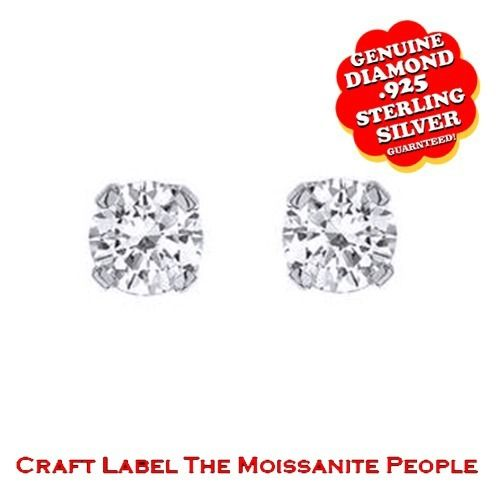 """1/6 Ct Genuine Genuine Diamond 14K Gold Solitaire Stud Earrings With Push Back """"Mother\'s Day Gift"""". Starting at $59"""