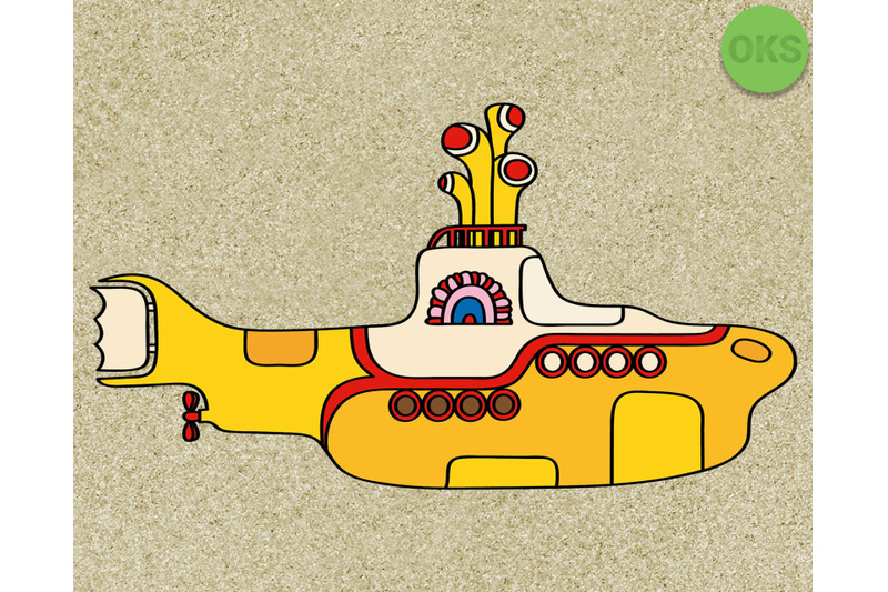 Yellow Submarine Svg Beatles Svg Files Vector Clipart Cricut Down By Crafteroks Thehungryjpeg Com Yellow Submarine Clip Art Svg