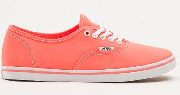 peach colour vans