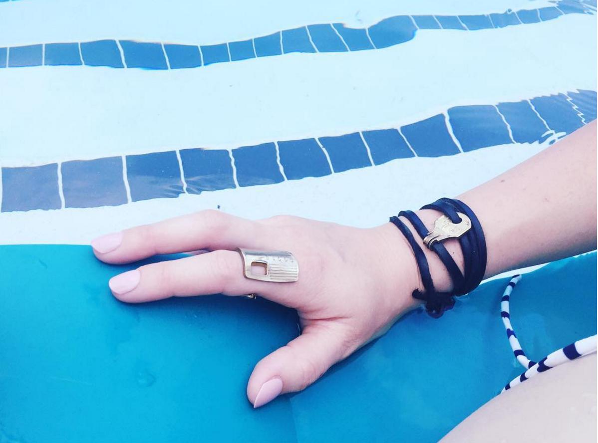 Black Leather || Brass || Summer || Pool || JoJo Wrap