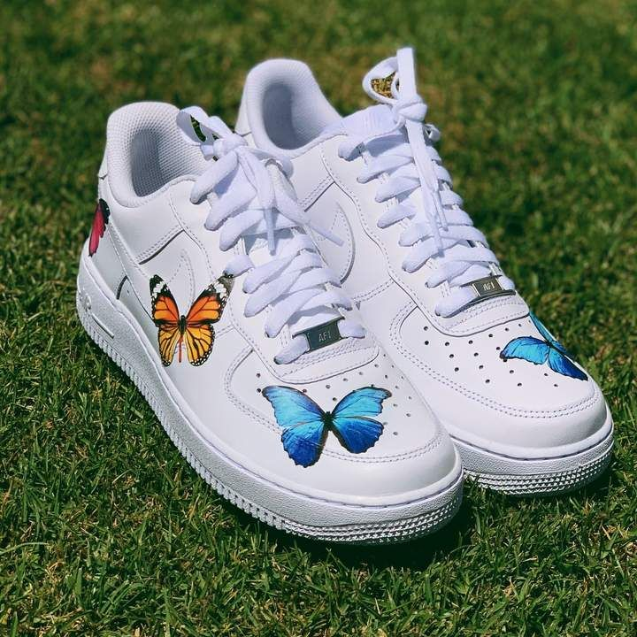 Butterfly Effect AF1 Butterfly shoes, Nike shoes flyknit